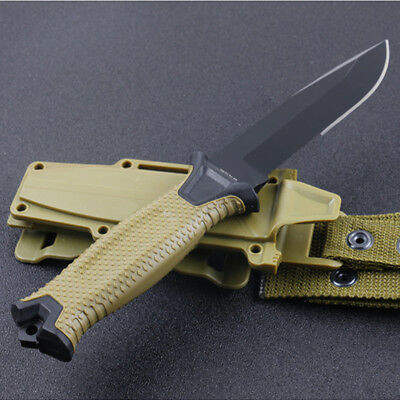 Pro Tactical Fixed Knives 60HRC Steel Blade Hunting Knife Camping Utility