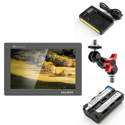 "Lilliput FS7 7"" 1920x1200 4K HDMI 3G-SDI On Camera Field Display Monitor+Battery"