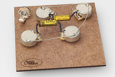"Prewired Assembly fits Gibson® Les Paul-Crazyparts.022uF PIO Caps/CTS ""TVT"" Pots"