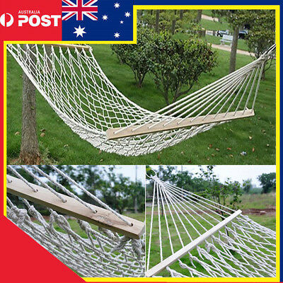 Hammock Single Chair Strong Cotton Rope Swinging Outdoor Camping Backyard Patio