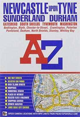 Newcastle Upon Tyne Street Atlas by Geographers' A-Z Map Co Ltd Book The Cheap
