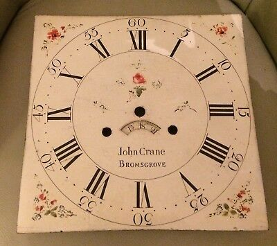 A Twelve Inch Painted Dial For Longcase Clock