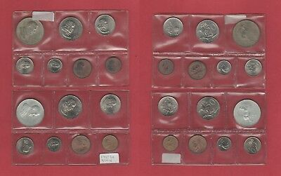 2 X 1967 Mint Sets Of South Africa - 1C - Silver Rand