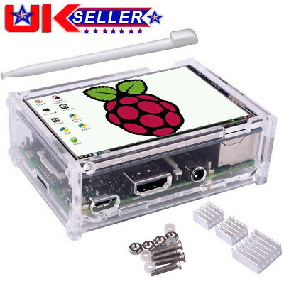 3.5 inch TFT LCD Display Touch Screen Kit with Case Heatsink for Raspberry Pi2
