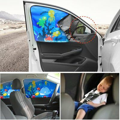 Ocean Magnetic Car Side Sunshade Curtains Windows Sun Visor Blinds Cover AU