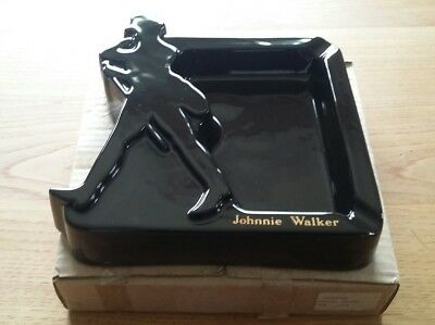 CENDRIER PUBLICITAIRE JOHNNIE WALKER  VINTAGE MADE IN FRANCE neuf vide poche