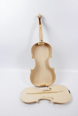 1pcs 4/4 Violin unfinished Flame Maple Spruce wood Unglue Violin Parts Maker