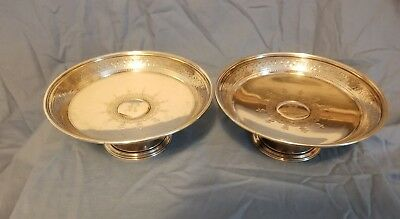 Pair Of Tiffany Sterling Silver Compotes