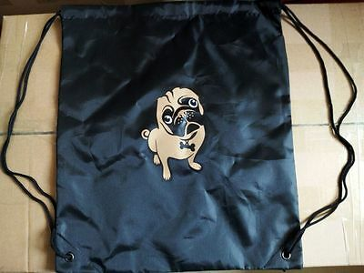 Pug Drawstring Bag,Library Bag, Sports, Bag, School,Local And Free