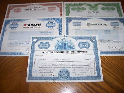 Lot of 5 Different Stock Certificates.L26
