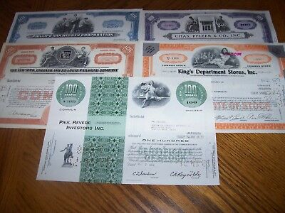 Lot of 5 Different Stock Certificates.Nice Vignettes.L11