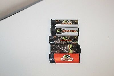 3 Pack Mossy Oak Butane Lighter Refillable Windproof LED