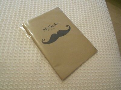 """my stache"" of ideas note pad- seltzer vg++ in wrapper"