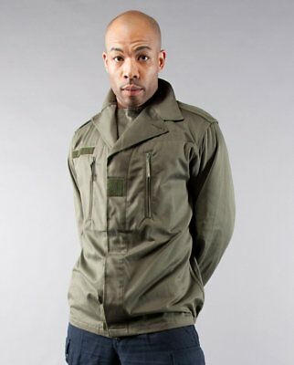 French Army Green Vertical Pocket Jacket