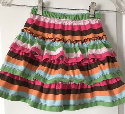 HANNA ANDERSSON Striped Tiered Skirt Size 110 or 5-6 Multi Color