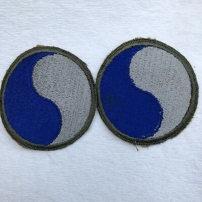 2 Vintage Patch US Military Army 29th Infantry Division Patch Snow White Back