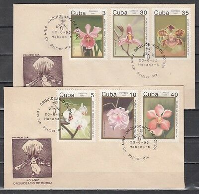 Caribbean Area, Scott cat. 3422-3427. Orchids issue. 2 First Day Covers.