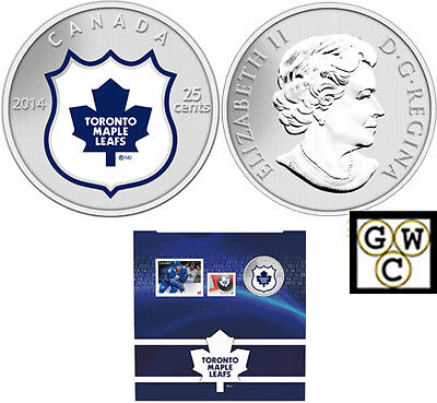 2014'Toronto Maple Leafs - NHL Hockey' Colorized 25-Cent Coin & Stamp Set(13313)