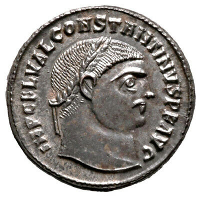 CONSTANTINE THE GREAT (317 AD) Rare Follis. Alexandria #IU 11225