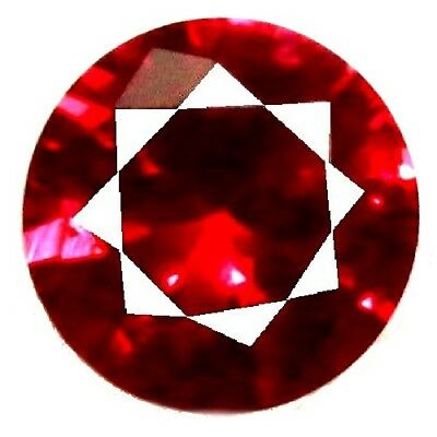 NATURAL ROUND-CUT RED SPINEL GEMSTONE LOOSE 4.4 x 4.4 mm. RARE SRILANKAN SPINEL