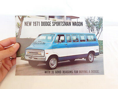 1971 Dodge Sportsman Wagon Post Card Or Mailing Card
