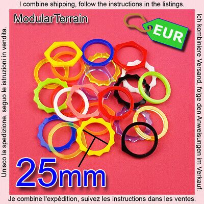 5x ROUND CLAMP RING 3mm ACRYLIC TOKEN 25mm BASES ZOMBICIDE BLOOD BOWL INFINITY