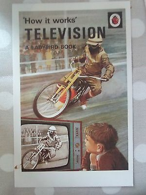 Ladybird Book POSTCARD How It works Television 1968 Motorbike Vintage Cover