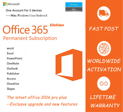 Office365-MS 2016 Professional Plus Lifetime For WIN/MAC/Mobile Fast Shipping