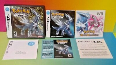 Pokemon Diamond Version - Nintendo DS Case, Manual, Inserts ONLY *NO GAME*