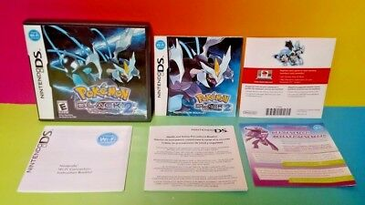Pokemon Black 2 Version - Nintendo DS Case, Manual, Inserts ONLY *NO GAME*