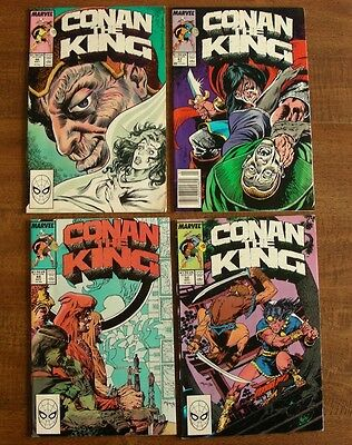 Conan the King Lot of 4 Issues 46 (FN/VF), 47 (FN), 49 (VF) & 52 (FN+), $3 Ship