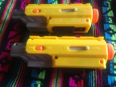 Lot Of 2 NERF N-Strike Recon Red Dot Laser Tactical Light Scope Sight Attachment