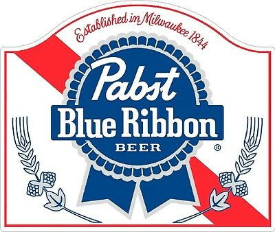 Pabst Blue Ribbon Classic VIntage sticker decal NHRA RatRod Street Rod