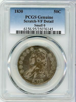 1830 Capped Bust Silver Half Dollar 50C - PCGS VF Detail Certified - CA028