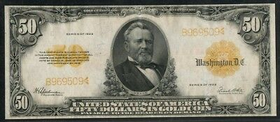 Fr1200 $50 1922 Series Gold Note -- Xf -- Wlm5581