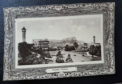 Antique postcard of Crystal palace posted 1909.