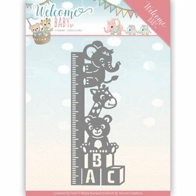 Growth Chart - Welcome Baby - Stanzschablone von Yvonne Creations (YCD10136)