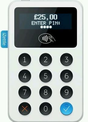 Izettle Chip & Pin Card Reader Contactless Payment Uk Apple Pay Visa Ex Display