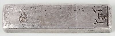 Annam Vietnam 10 Lang Silver Bar 367 Grams 114x28x14 mm 5 Side Stamps