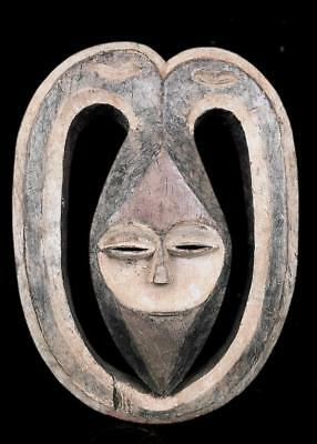 Old  Tribal Kwele Forest Spirit 3 Faces    Mask       -- Gabon