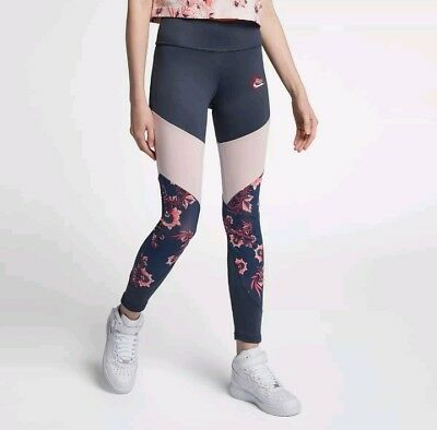 Nike Sportswear Essential Womens Floral Printed Leggings Size M (921644 471) New