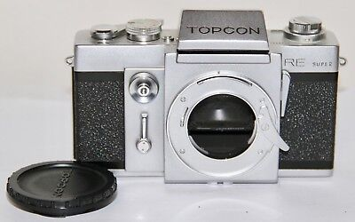 Topcon RE Super 35mm SLR Body Only On Working Condition Auction 3 Looks Nice