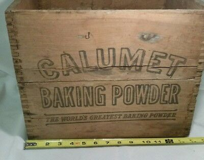 Vintage Wooden Calumet Baking Powder Box Crate