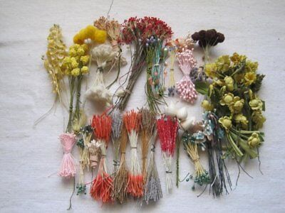 Huge Lot Of Vintage Millinery Flowers And Stamens