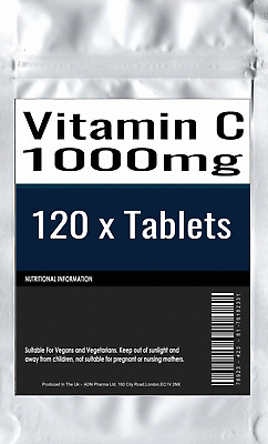 120 x Vitamin C 1000mg with RosehipBioflavonoids Time Release
