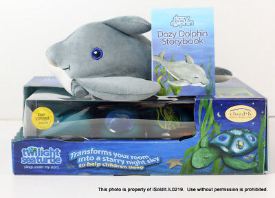 2 NEW Cloud B TWILIGHT TURTLE + DOZY DOLPHIN STORYBOOK, PLUSH Baby Shower Gifts!