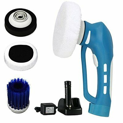 Mini Cordless Handheld Electric Cleaner Machine Car Polisher with 3 Brushes