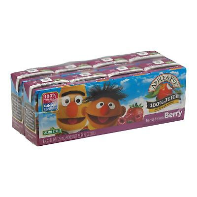 Apple And Eve Sesame Street 100 Percent Juice - Bert And Ernie's Berry - Case Of