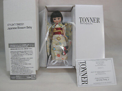 """New Tonner 8"""" Tiny Betsy Mccall B/l Doll Le 300 Japanese Blossom Betsy Exclusive"""