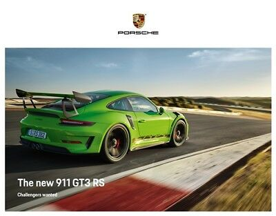 2019 Porsche 911 GT3-RS, Original English Hardback Brochure